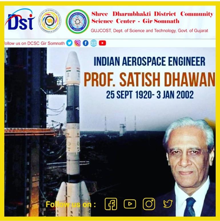 25th September is the Birthday of Prof Satish Dhawan, the Father of experimental fluid dynamics research in India.  He gave self-confidence to #VikramSarabhai #APJAbdulKalam's vision for the success of Indian space program.@narottamsahoo @InfoGujcost @GUJCOST @VijayKotadiya8 https://t.co/QGePgk2wTq