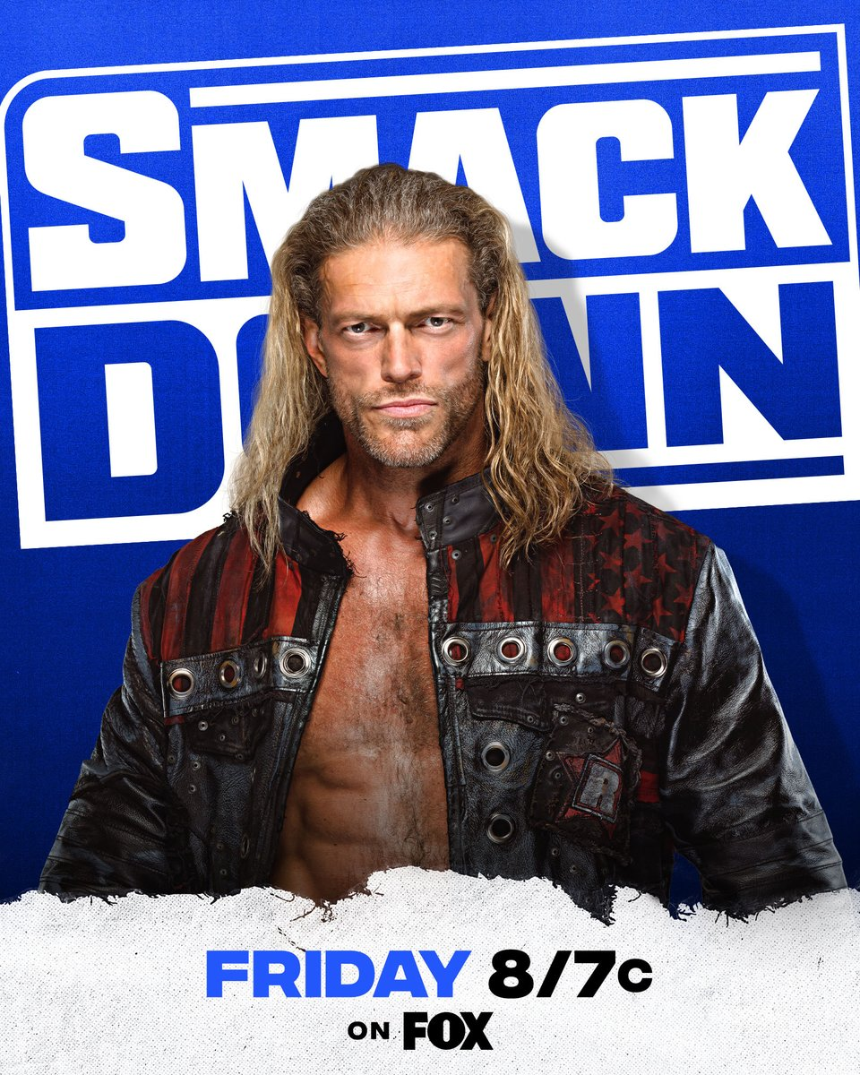 .@EdgeRatedR will be back on the blue brand NEXT FRIDAY on #SmackDown! What will he have to say to @WWERollins?  https://t.co/mkOLGaxfbE https://t.co/mvg62K5E4c
