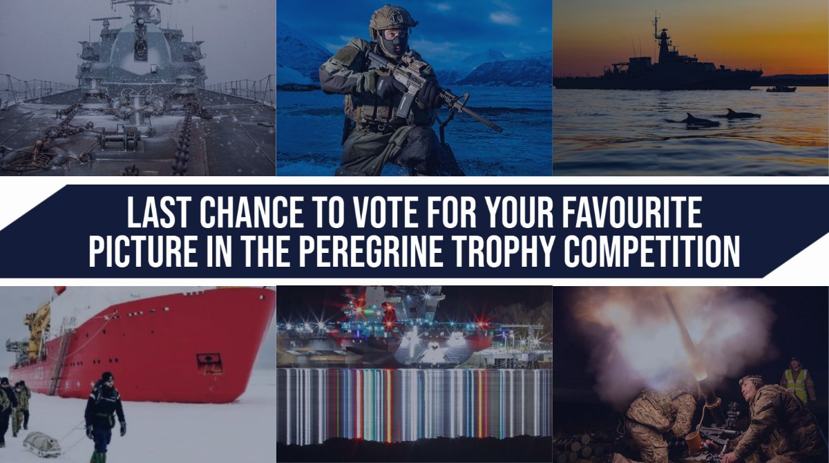Today is the last chance to vote for your favourite #RoyalNavy picture of the year! 📸 The Peregrine Trophy photographic competition ends tonight! To vote, follow the link here: ow.ly/bqOv50G8Q4N 📢The competition closes at midnight tonight Sept 25.