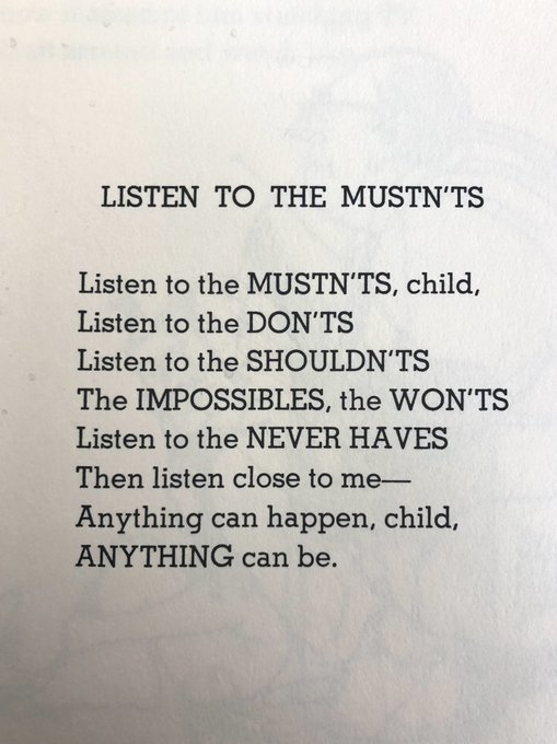 Happy 91st birthday to the late, great Shel Silverstein! More relevant now than ever.