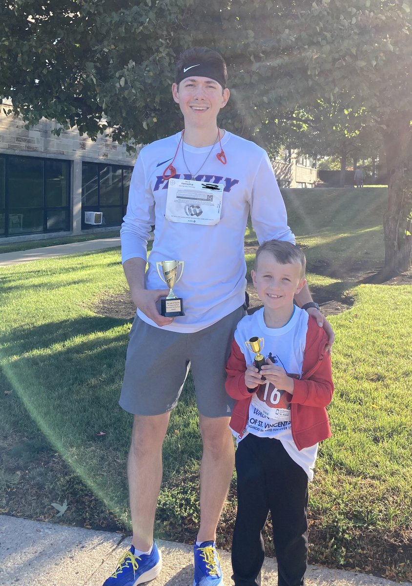Mrs. Cieniawa's son Steven, OLW Class of 2013, won the 5k run. And her student, OLW Class of 2028, won the kids dash. 🙌 #olwwildcatpride #olwalums