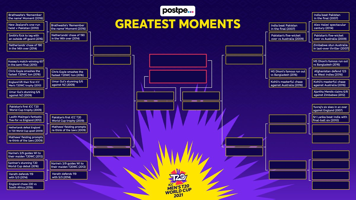Voting for match-up 13 is OPEN!  What is your @postpeapp Greatest Moment?  🗳️ https://t.co/Ub8etj0Czj https://t.co/AcHF7Cr2HU