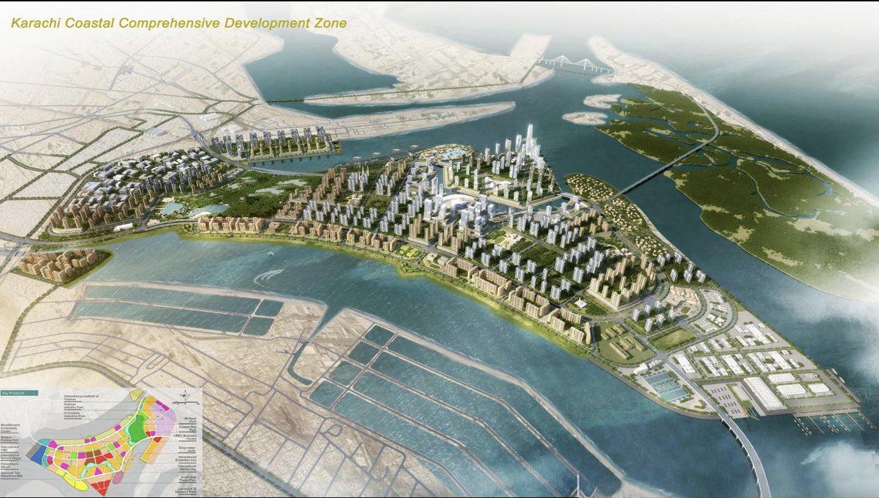 The proposed Karachi Coastal Comprehensive Development Zone (KCCDZ).