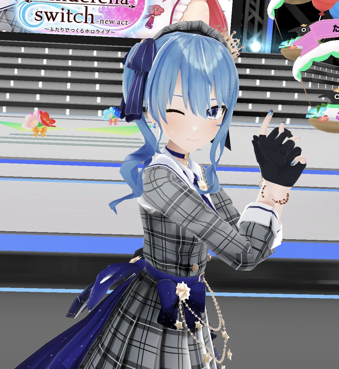 Oh yeah! One more screenshot! I took this one specifically for you guys! 💙🙌☺️ #ふたりでつくるホロライブ