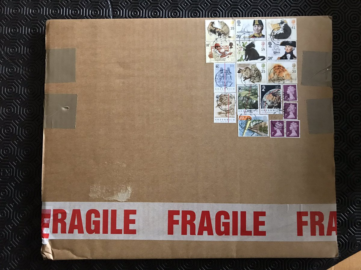 Ive never seen so many stamps on a single vinyl package….. https://t.co/M1Iqc5dz1w