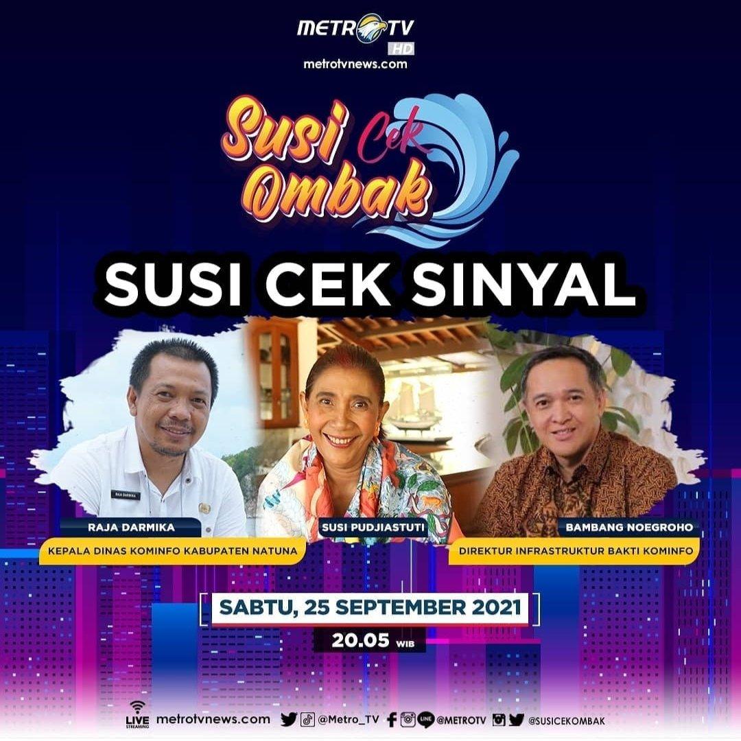 Kawan Susi Sabtu malam ini nonton #SusiCekOmbak episode #SusiCekSinyal yuk mulai pukul 20.05 WIB hanya di @Metro_TV https://t.co/JY31OVXa2s