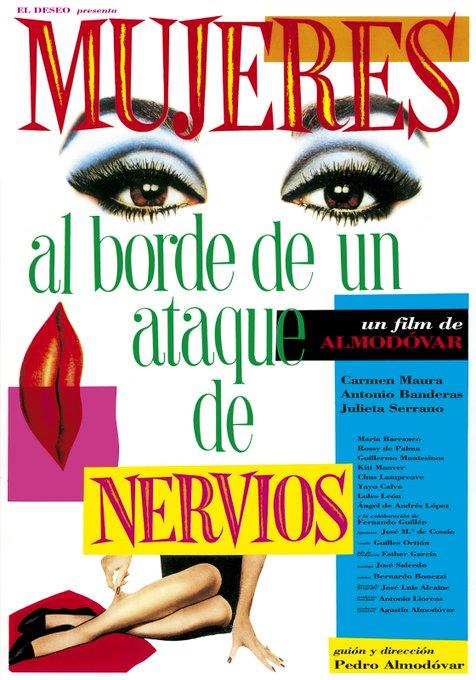 Today\s movie   Women on the Verge of a Nervous Breakdown (1988)  Happy birthday Pedro Almodóvar !!