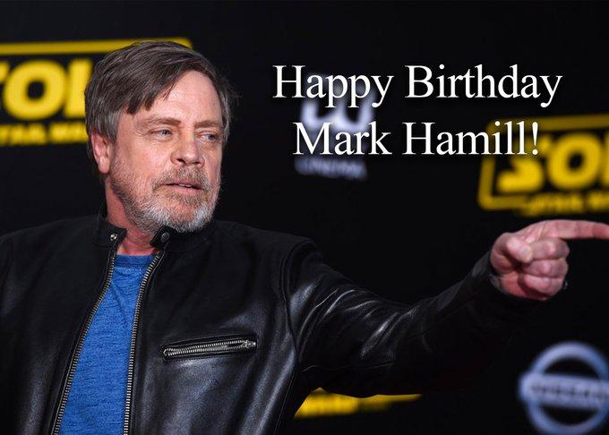 "HAPPY BIRTHDAY TO MARK HAMILL! The \""Star Wars\"" actor turns 70 today."