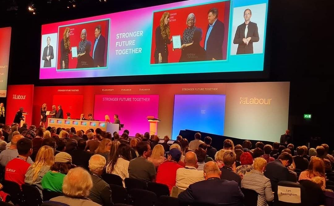 Lovely to see Chris Wilkinson getting honoured at Labour conference for all her years of work. When I was 14 Chris sat in my mom and dad's living room while I filled in my forms to become a Labour Member, so blame her