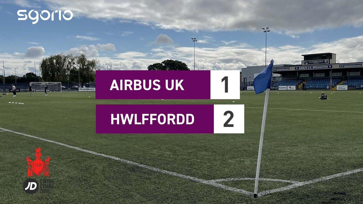 Image for the Tweet beginning: Uchafbwyntiau | Highlights: @airbusukfc 1-2