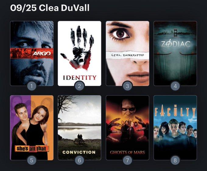 Hoy cumple años la actriz Clea DuVall (44). Happy Birthday ! Aquí mi ranking: