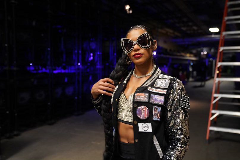 Put some respect on my name. #ESTofWWE  I've been working on and adding to this jacket ever since I first wore it at #Takeover:NewYork in NXT. AND  I can't wait to add my #ExtremeRules, 2x Champ, & another Horsewoman patch. 💋 https://t.co/1yMiqvvvIP