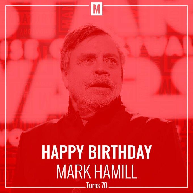 May the cake be with you! Happy Birthday Mark Hamill!