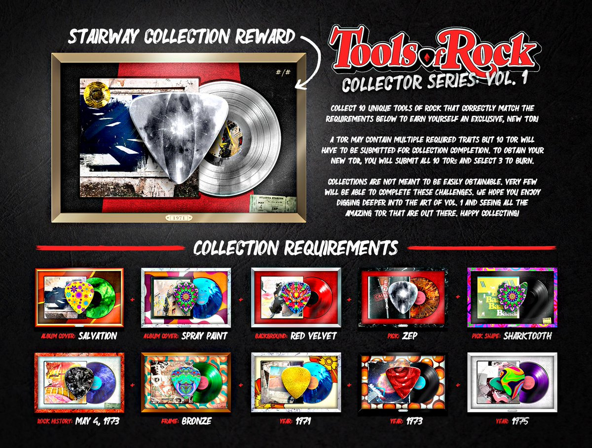The time has arrived to introduce our Tools of Rock Collections! We are so excited to introduce this element into the Tools of Rock community and it will become a staple across all of our projects! Our first Collection, the 'Stairway' Collection, is an homage to Led Zeppelin.