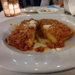 Image for the Tweet beginning: Lasagna Bolognese & Cannoli at Palermo!