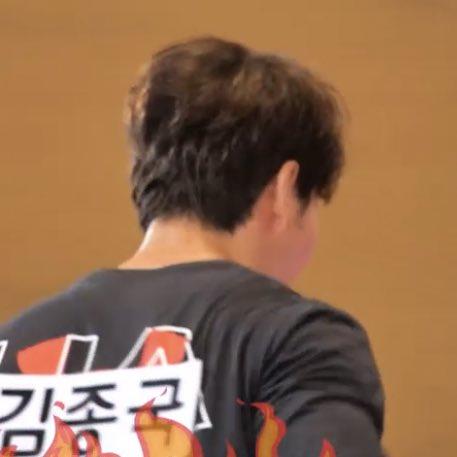 His fluffy hair 😍  #kimjongkook #김종국