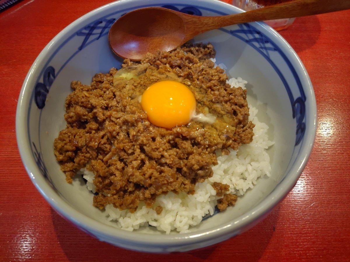 今日の昼飯…肉味噌丼+カレーラーメン٩(๑❛ᴗ❛๑)۶和かふぇぎゃるり安穏