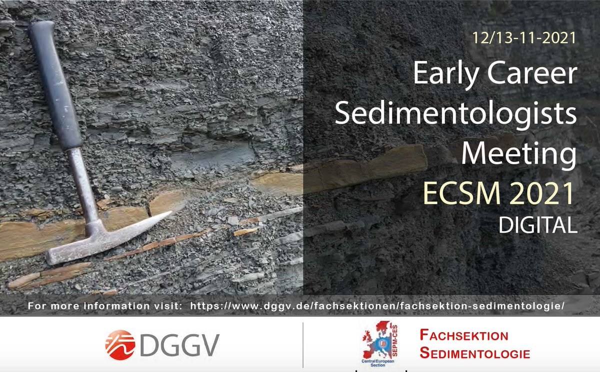This year's ESCM will take place from November 12th to November 13th as an online meeting (see attached PDF poster). The ECSM is dedicated to bring together young sedimentologists (PhD and MSc students) to present their research in an informal setting to the community. Besides, the meeting will also provide a platform for established researchers to exchange ideas and initiate future collaborations. The meeting will be organized by the DGGV-Fachsektion Sedimentology/SEPM-CES group.
