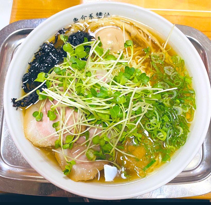 醤油スペシャル 麺大盛り👍#らー麺#海空土