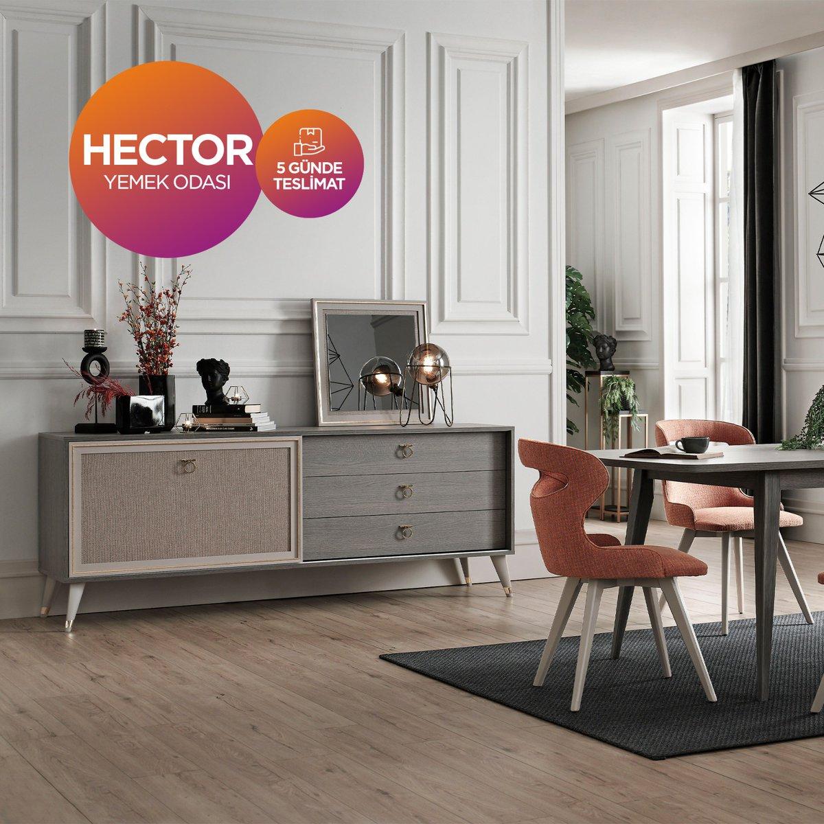 Doğtaş'tan kaçırılmayacak fırsat! Hector yemek odası 5 günde teslimat avantajıyla, Doğtaş mağaza ve online alışverişlerde sizleri bekliyor.  #Doğtaş#ŞimdiTarzDoğtaş#Berjer#YatakOdasıTakımı#aksesuar#homedecor#interiordesign#dekorasyon#decoration #indirim#kampanya