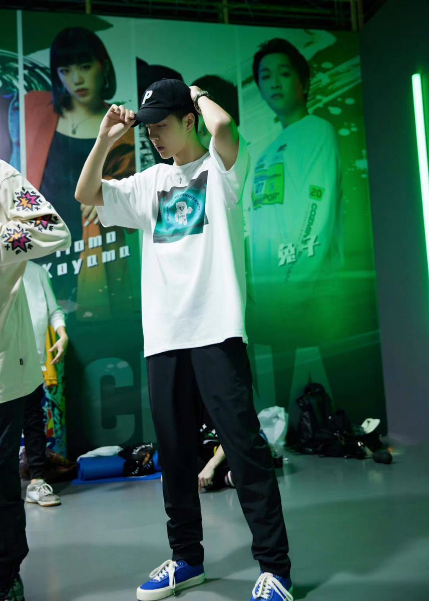 #WangYibo in behind the scenes posts for #StreetDanceOfChinaS4