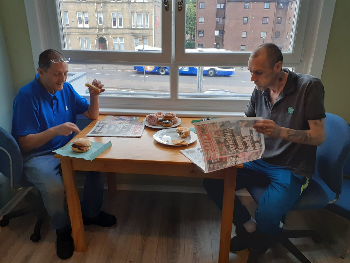 Image for Sunday brunch club at PRW with morning papers. ☕