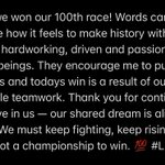 Image for the Tweet beginning: Today we won our 100th