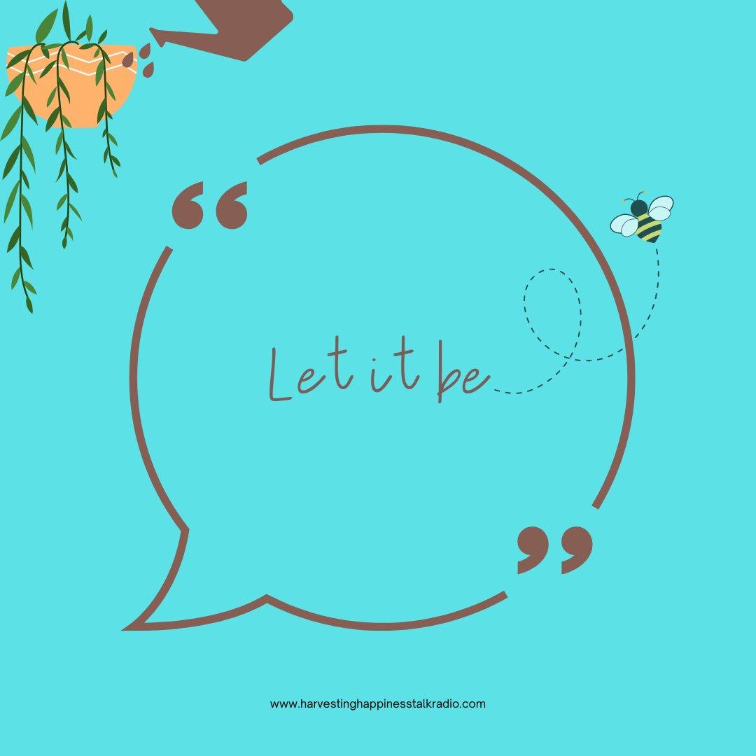 Let it be. 🌻💫  #BeYourOwnHero