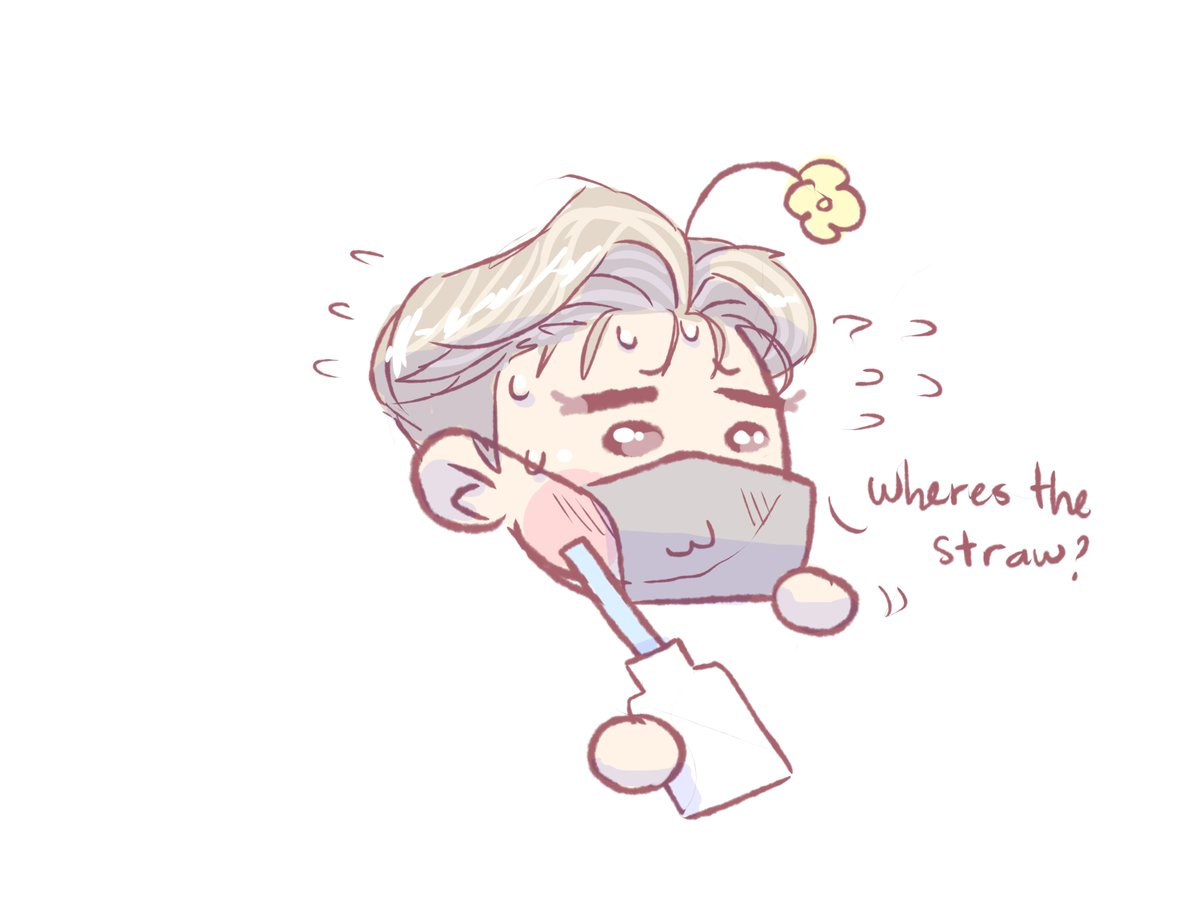 Where's the straw? . #ateez #ateezfanart #seonghwa #yunho #yeosang #san #mingi #에이티즈 #에이티즈팬아트 #성화 #윤호 #여상 #산 #민기