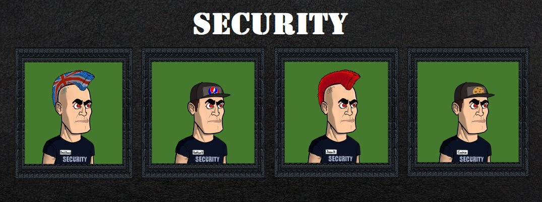 If you plan on rocking with us tonight and until Gods of Rock launch, be careful.. Band Security will boot your ass off stage!  We made custom avatars made for our well deserving Discord mods! No body more deserving.  Gods of Rock is COMING🤘 #GodsofRock #TORNFT #ToolsofRock