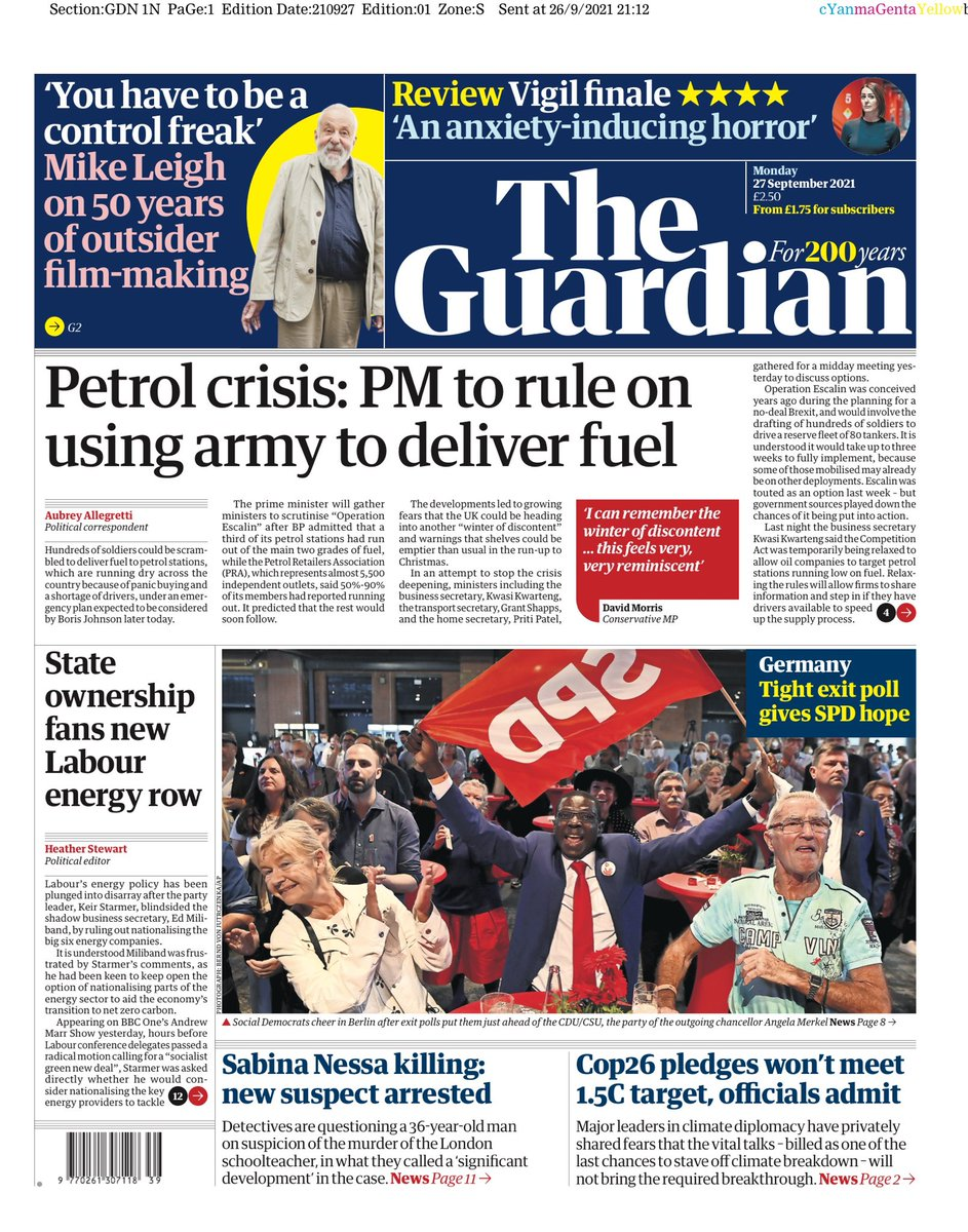 GUARDIAN: Petrol Crisis: PM to rule on army to deliver fuel #TomorrowsPapeesToday