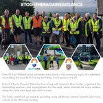 Image for the Tweet beginning: #TogetherAgainEastLancs well done all! 🦺👣