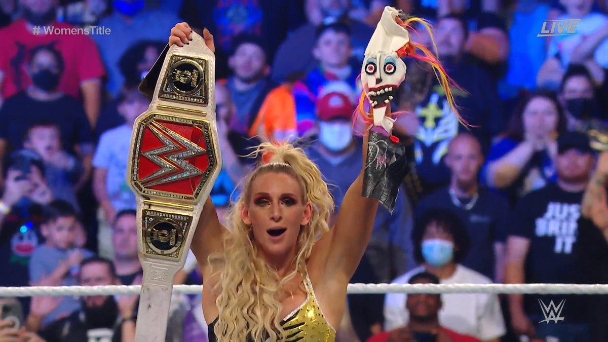 RT @WWEUniverse: This is what true victory looks like.  #ExtremeRules @MsCharlotteWWE https://t.co/Zo39kjvayU