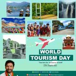 Image for the Tweet beginning: On this #WorldTourismDay, let us