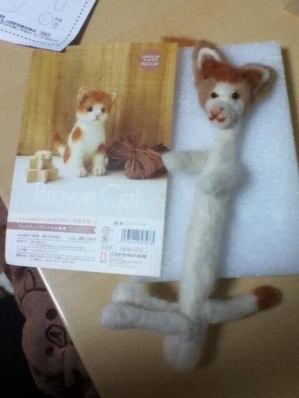 もう羊毛フェルトには手を出さない。「猫の羊毛フェルト」が欲しくて、泣きそうになりながら作ったやつだ。