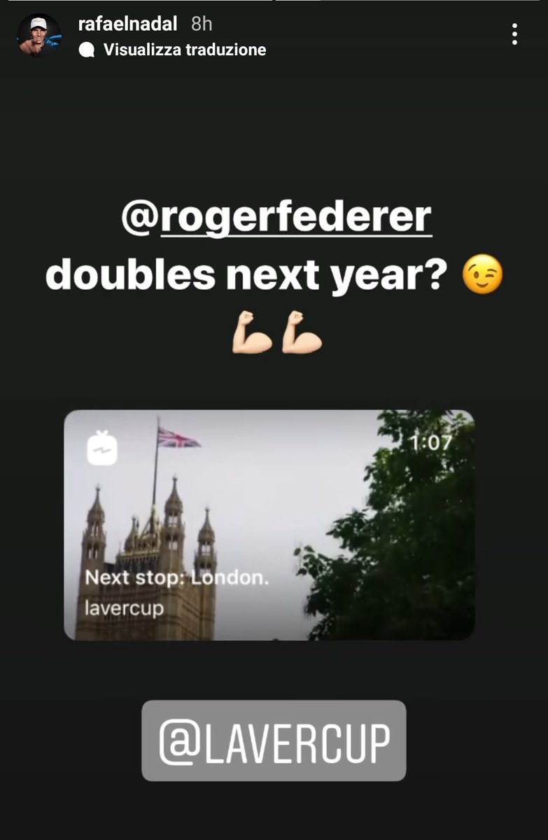 Nadal wants to play doubles with Federer in the #LaverCup next year. Fedal one last time.