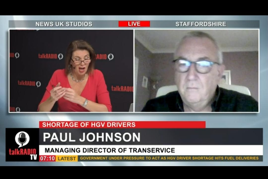 Our MD was on Talk Radio TV this morning explaining that the Government's response to HGV Driver shortage is too little too late....