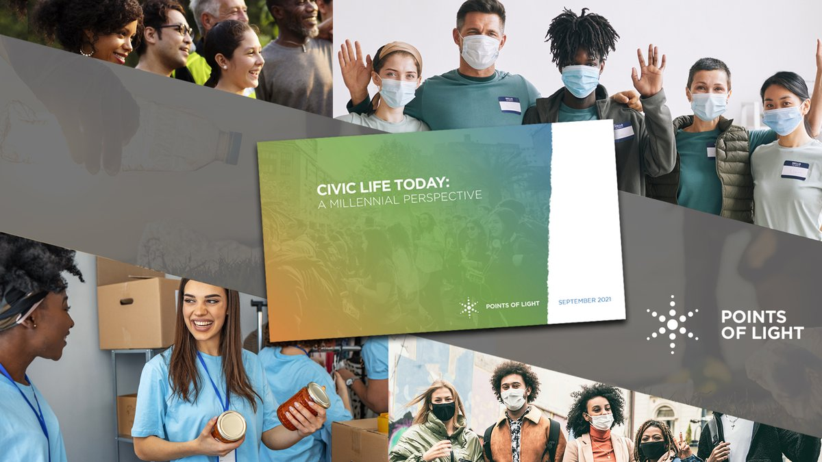 """Do millennials really care about #CSR and addressing social issues? YES!  @PointsofLight is out with new research on """"the civic involvement of the country's largest generation in history."""" #MondayMotivation"""