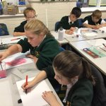 Image for the Tweet beginning: #SJV5OK Using drawing ink, water