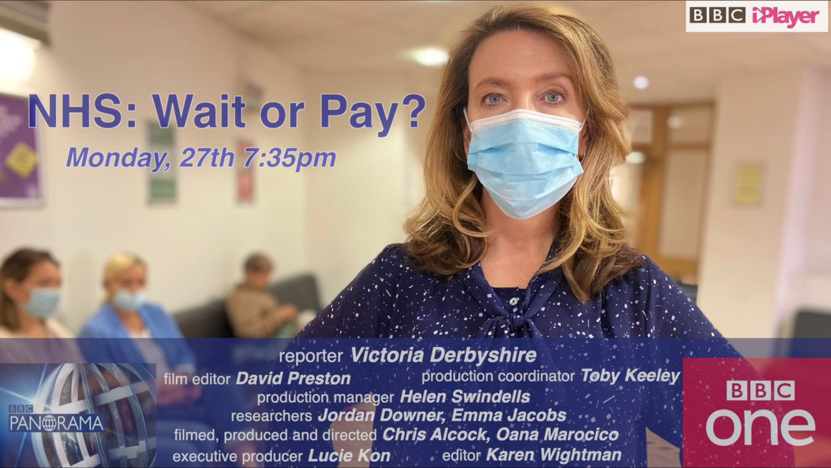 On tonight's @BBCPanorama we tell the stories of those who were forced into going private, after being told they'd have to wait for years until they'd get treatment on the health service. They took out loans or crowdfunded to go abroad for 'urgent surgery'. @VictoriaLIVE