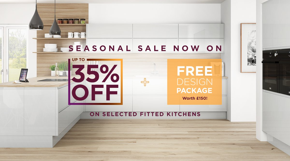 Our 𝘀𝗲𝗮𝘀𝗼𝗻𝗮𝗹 𝘀𝗮𝗹𝗲 is now on! 🍂 Save up to 35% off + receive a FREE design package worth £150 on your dream kitchen! 🧡  Request a quote online ➡️ bit.ly/2QbbWPN   #KitchenDesign #SeasonalSale #Sheffield
