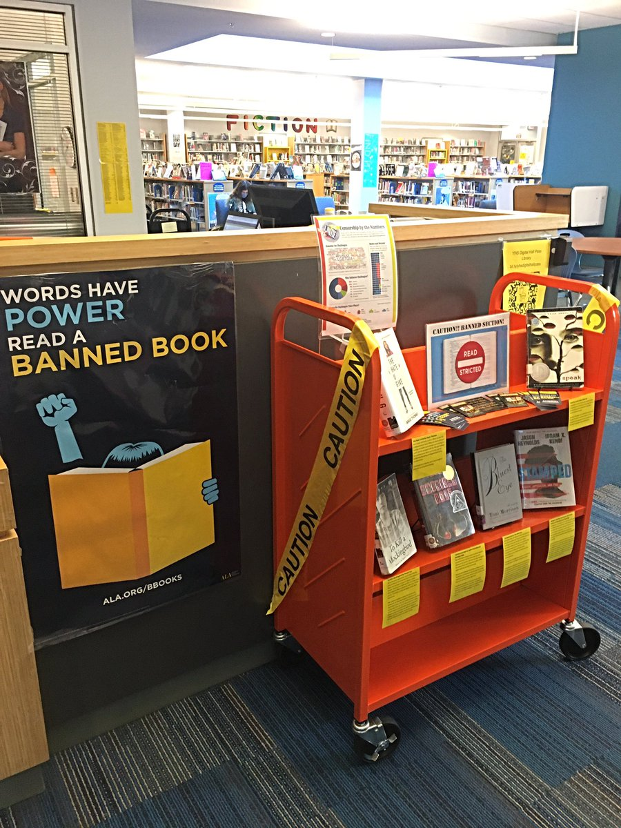 Happy <a target='_blank' href='http://search.twitter.com/search?q=BannedBooksWeek2021'><a target='_blank' href='https://twitter.com/hashtag/BannedBooksWeek2021?src=hash'>#BannedBooksWeek2021</a></a>! It's time to celebrate the ways <a target='_blank' href='http://search.twitter.com/search?q=BooksUniteUs'><a target='_blank' href='https://twitter.com/hashtag/BooksUniteUs?src=hash'>#BooksUniteUs</a></a> because censorship divides us! Check out our display to find out why and where books are challenged & banned. <a target='_blank' href='http://twitter.com/APSLibrarians'>@APSLibrarians</a> <a target='_blank' href='http://twitter.com/YorktownAPs'>@YorktownAPs</a> <a target='_blank' href='http://twitter.com/Principal_YHS'>@Principal_YHS</a> <a target='_blank' href='http://twitter.com/YorktownSentry'>@YorktownSentry</a> <a target='_blank' href='https://t.co/5uPdYiFD7R'>https://t.co/5uPdYiFD7R</a>