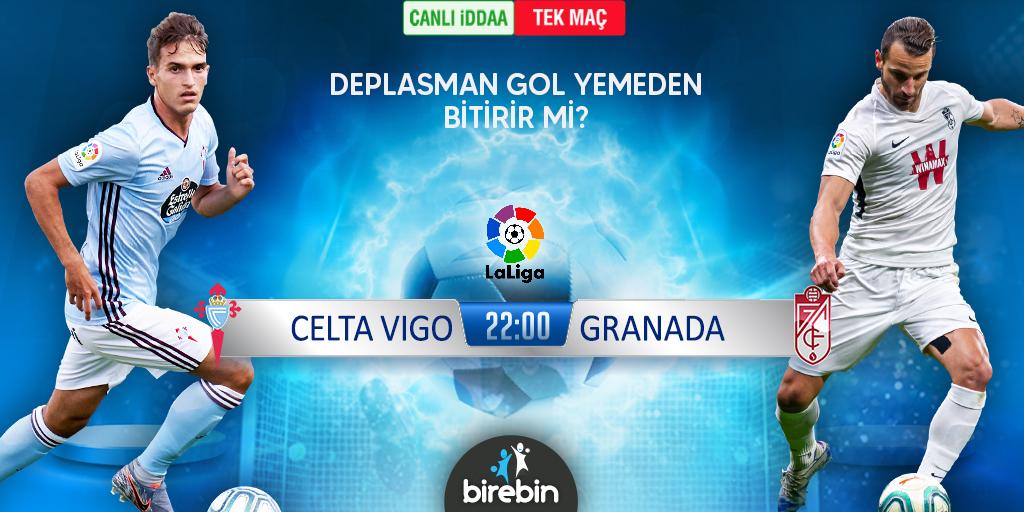 🇪🇸 La Liga'da gecenin maçı! ⚔ Celta Vigo - Granada 📰 HEMEN OYNA -> bit.ly/3sQYsur  #laliga #celtavigo #granada #canlıbahis #canliiddaa #iddaa #bahis #kupon #kupon #ispanya #spain🇪🇸