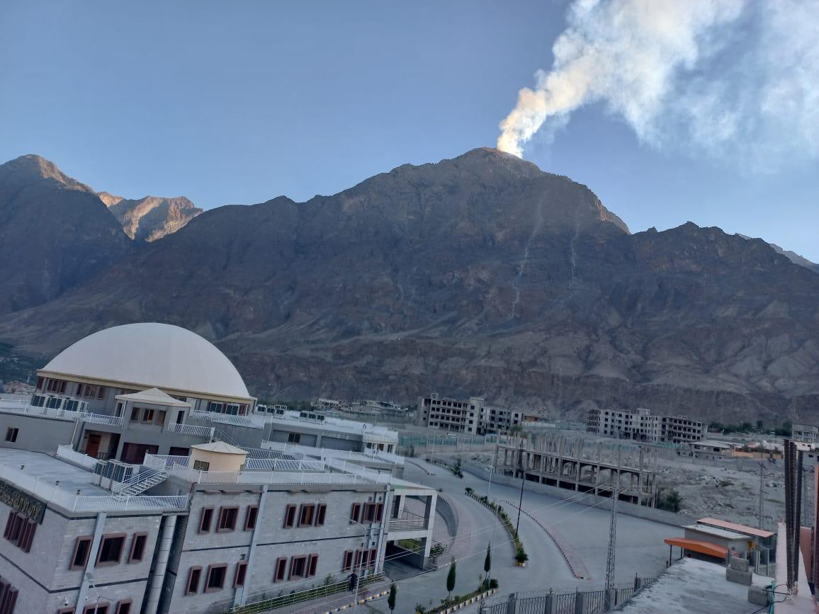 Forest fire broke out in Jutial nallah #Gilgit.