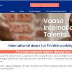 Image for the Tweet beginning: The Vaasa International Talents website