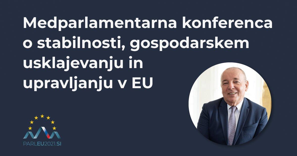 """[Medparlamentarna konferenca o stabilnosti, gospodarskem usklajevanju in upravljanju v 🇪🇺 tudi minister]  .@ASircelj: """"Smo v fazi, ko upamo, da je epidemija končana in se lahko osredotočimo na okrevanje. V okviru tega bodo stabilni lastni viri EU zelo pomembni."""""""