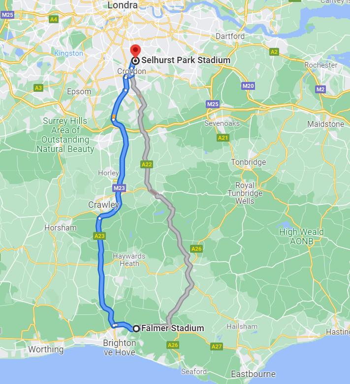 M23 Derbisi:  Bu akşam Brighton Palace'ı yenerse Premier Lig'de lider olacak. Sussex ve Güney Londra arasında A23 ve M23 otobanları Palace ve Brighton statlarını bağlayan yolda bulunuyor. Asıl yol A23 ama basın M23 adını vermiş. İngilizler otobandan bile marka yaratıp pazarlıyor.
