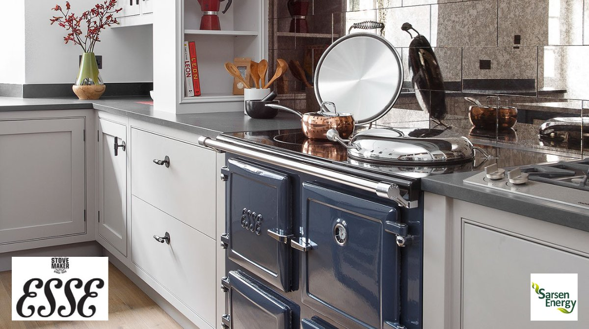 We work closely with @ESSE1854 as we believe they sell a premier product at a fair price, compared to some of their well known competitors.   Take a closer look at the products available on our website: sarsenenergy.co.uk/range-cookers/  #kitcheninspiration #luxurykitchens #kitchendesign