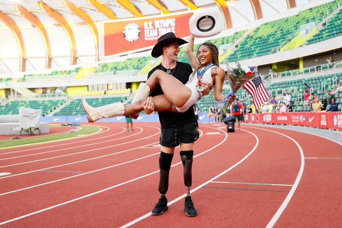 The BEST news 😍💍 Huge congratulations to @hunterwoodhall and @tar___ruh on your engagement! 📰: go.teamusa.org/3uhUHj2