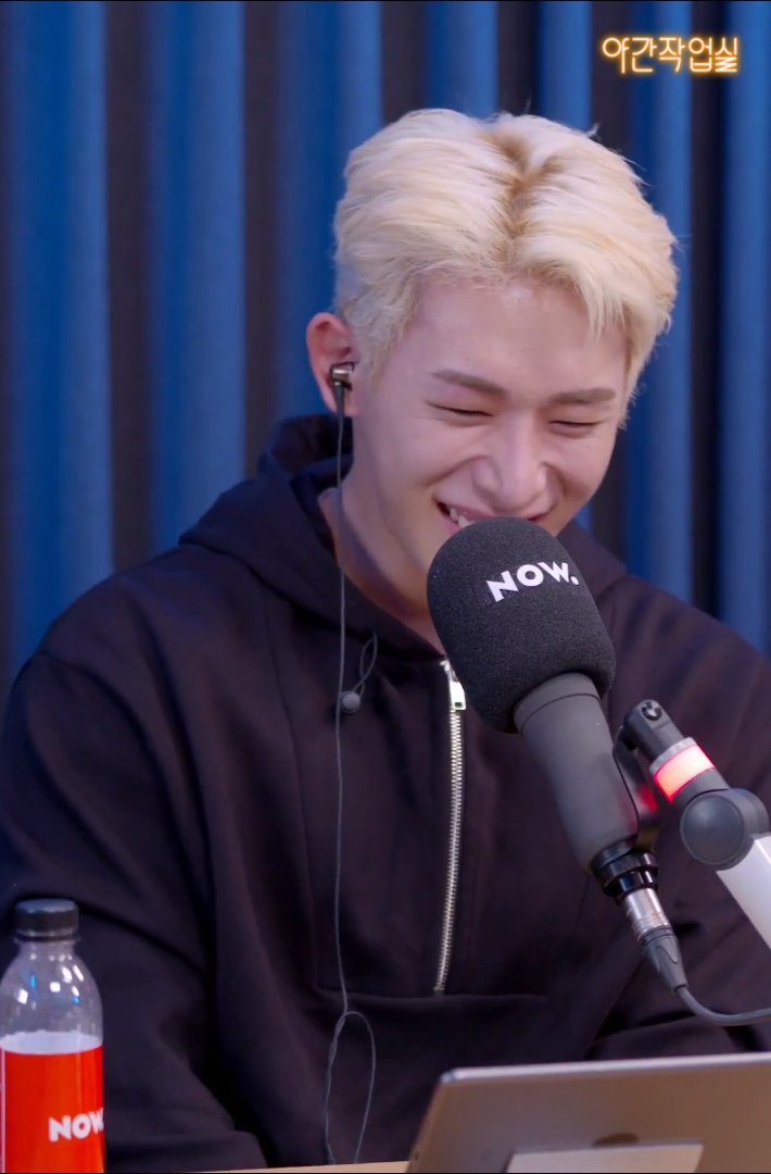 Is it only me? I totally can hear his laughter 🥰😍 It was FUN!!  Let's have Wonho again on NOW온에어🤗 Have a goodnight👋  💙🎶🐰💙🎶🐰💙 #NOW온에어 #야간작업실 #원호 #WONHO #블루 #BLUE #WONHO_BLUE #블루레터 #Blue_Letter  @official__wonho
